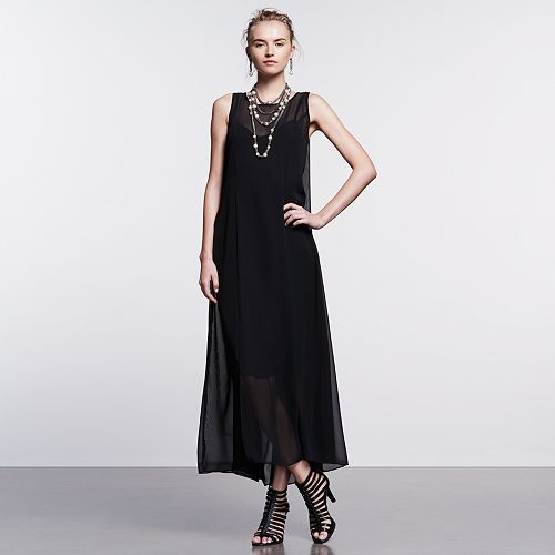 Simply Vera Vera Wang Simply Noir Maxi Dress