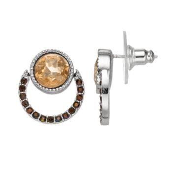 Simply Vera Vera Wang Round Nickel Free Door Knocker Earrings