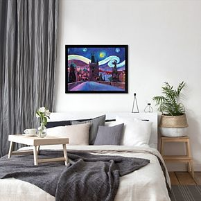 "Americanflat ""Starry Night in Prague Van Gogh Inspirations"" Framed Wall Art"