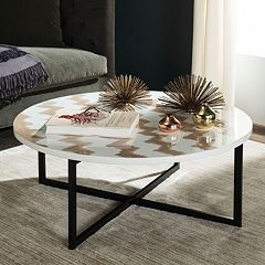 Safavieh Chevron Round Coffee Table
