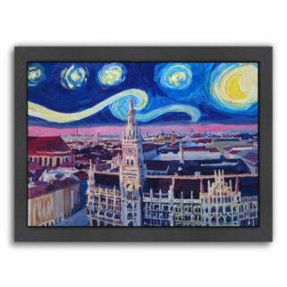 "Americanflat ""Starry Night In Munich Van Gogh Inspirations"" Framed Wall Art"