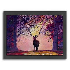 Americanflat 'The Deer Coming from the Glade 2' Framed Wall Art