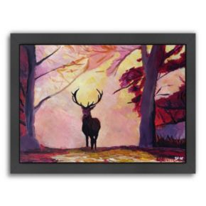 """Americanflat """"The Deer Coming from the Glade"""" Framed Wall Art"""