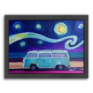 """Americanflat """"The Surf Bus Series The Starry Night Bulli"""" Framed Wall Art"""