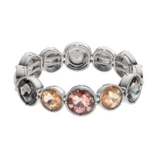 Simply Vera Vera Wang Round Stone Station Stretch Bracelet
