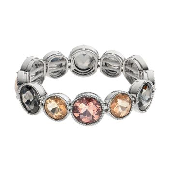 Simply Vera Vera Wang Round Stone Station Stretch Bracelet