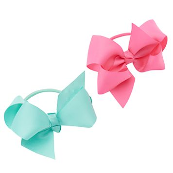 Girls 5-16 2-pk. Grosgrain Pony Hair Bow Set
