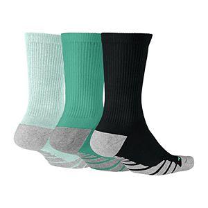 Women's Nike 3-pk. Dri-Fit Cushioned Crew Socks