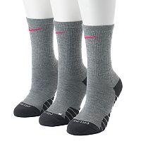 Women's Nike 3 pkDri-Fit Cushioned Crew Socks
