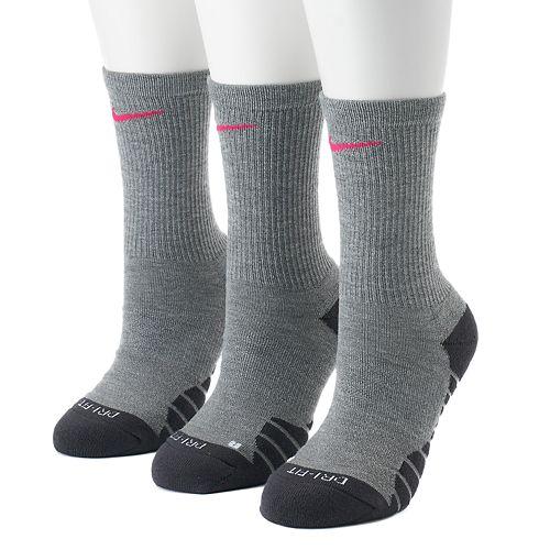 855f34ca5 Women's Nike 3-pk. Dri-Fit Cushioned Crew Socks