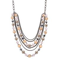 Simply Vera Vera Wang Simulated Pearl & Bead Swag Necklace