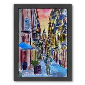 "Americanflat ""Fascinating Palermo Sicily Italy Street Scene"" Framed Wall Art"