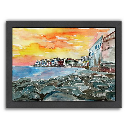 "Americanflat ""Magnificent Mykonos"" Framed Wall Art"