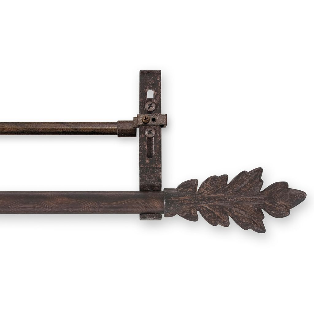 Leaf Convertible Double Curtain Rod