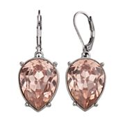 Simply Vera Vera Wang Pink Nickel Free Inverted Teardrop Earrings