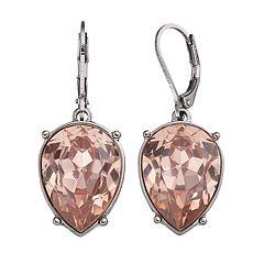 Simply Vera Vera Wang Pink Nickel Free Inverted Teardrop Earrings