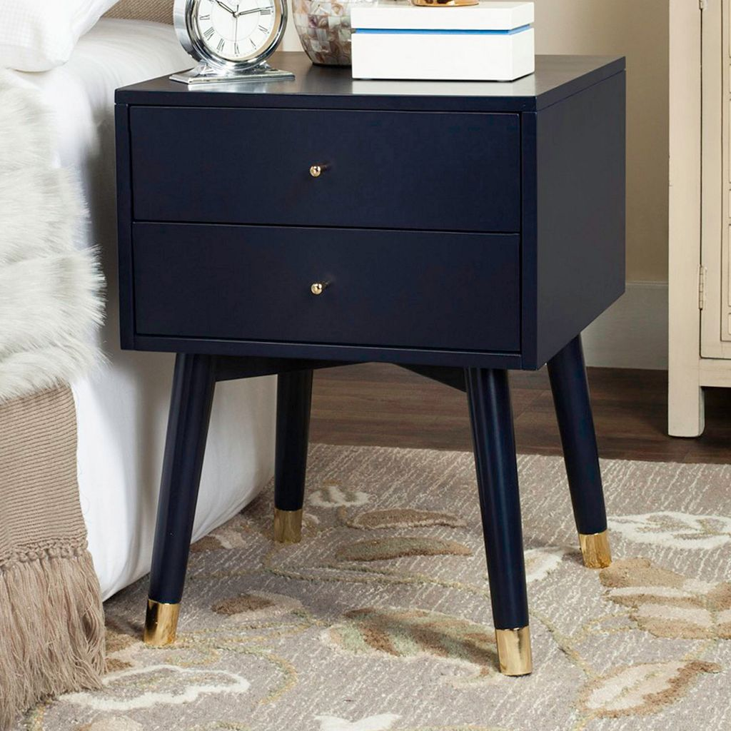 Safavieh Mid-Century Retro 2-Drawer Nightstand