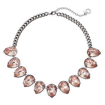 Simply Vera Vera Wang Pink Teardrop Statement Necklace