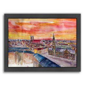 """Americanflat """"Munich City"""" Framed Wall Art"""
