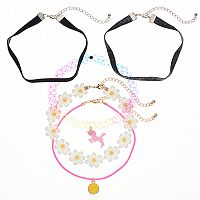 Girls 5-16 5-pk. Fashion Choker Set