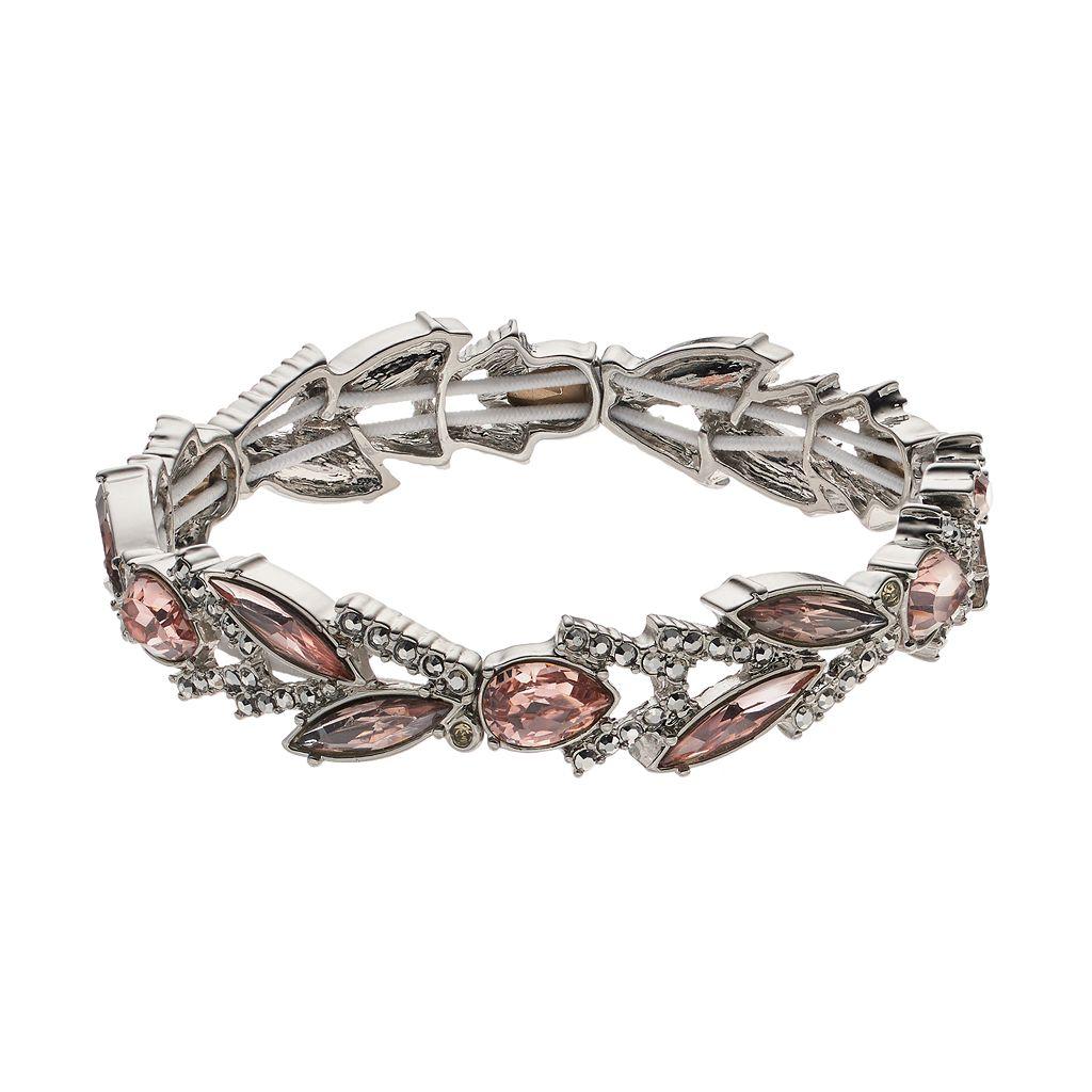Simply Vera Vera Wang Pink Marquise & Teardrop Stretch Bracelet