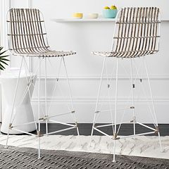 Safavieh Wicker Bar Stool 2 pc Set