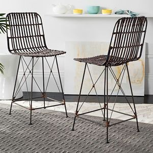 Safavieh Wicker Counter Stool 2-piece Set