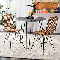 Safavieh Wicker Dining Chair 2 pc Set