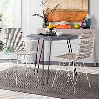 Safavieh Wicker Dining Chair 2-piece Set