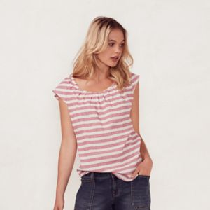 Women's LC Lauren Conrad Striped Pleated Tee