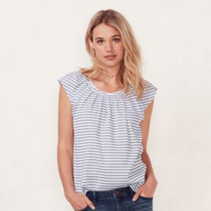 Women's LC Lauren Conrad Pleated Print Tee