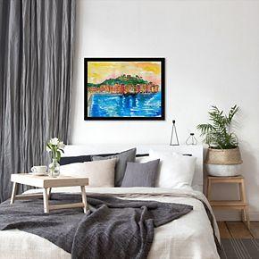 "Americanflat ""Picturesque Portofino Ligure Italy 2"" Framed Wall Art"