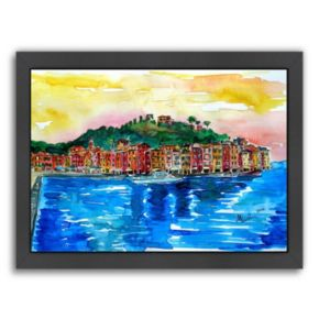 "Americanflat ""Picturesque Portofino Ligure Italy"" Framed Wall Art"
