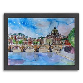 "Americanflat ""Vatican Rome Italy"" Framed Wall Art"