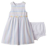 Baby Girl Marmellata Classics Striped Seersucker Dress
