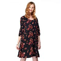 Women's Indication Embroidered Paisley Shift Dress