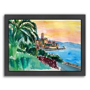 "Americanflat ""Wonderful Lago Maggiore Italy 2"" Framed Wall Art"