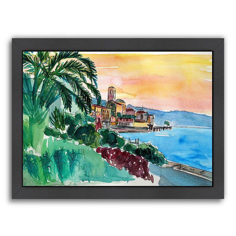 "Americanflat ""Wonderful Lago Maggiore Italy 2"" Framed Wall Art, Medium"