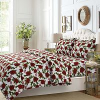 Christmas Joy 3-piece Flannel Printed Duvet Cover Set