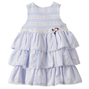 Baby Girl Marmellata Classics Striped Tiered Dress