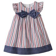 Baby Girl Marmellata Classics Flutter Sleeve Stars, Hearts & Stripes Dress