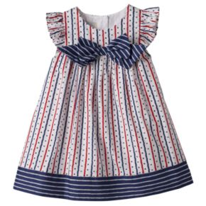 Baby Girl Marmellata Classics Flutter Sleeve Stars, Hearts & Stripes Dress