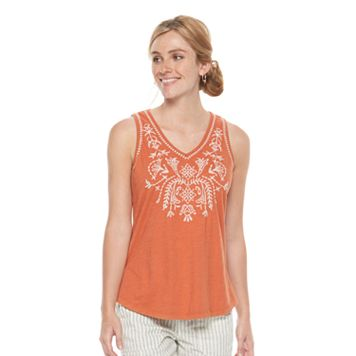 Petite SONOMA Goods for Life™ Embroidered Tank