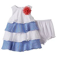 Baby Girl Marmellata Classics Gingham Tiered Dress