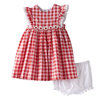 Baby Girl Marmellata Classics Gingham Flower Dress