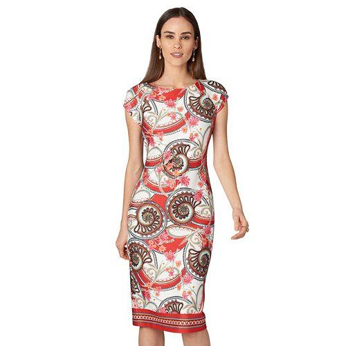 Women's Indication Paisley Floral Sheath Dress