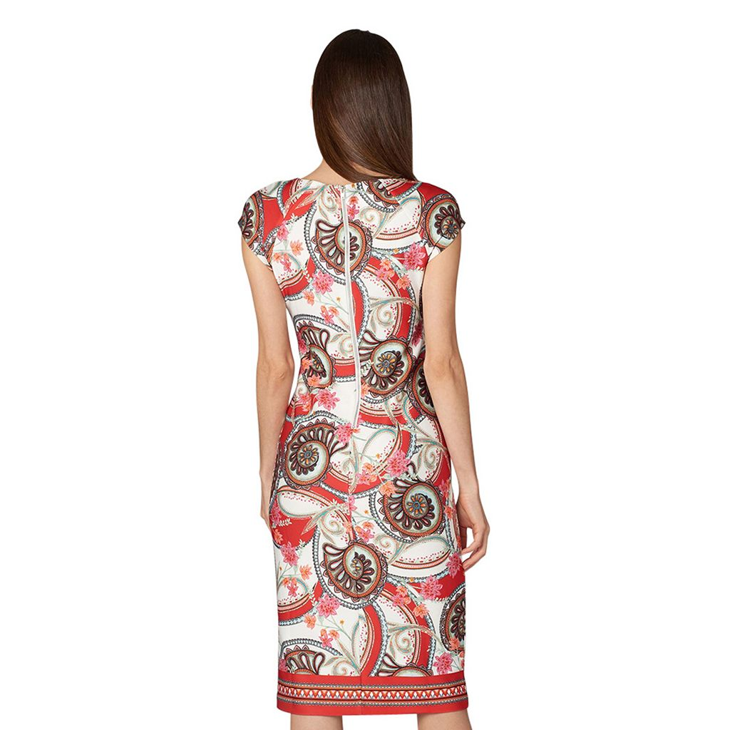Women's Indication Paisley Floral Sheath Dress