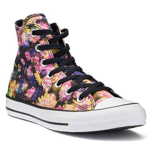 1c8f9057e8a2 Women s Converse Chuck Taylor All Star Polka-Dot Floral High Top Sneakers