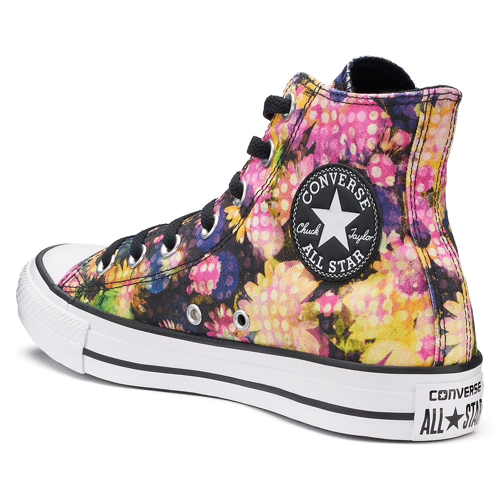 Women's Converse Chuck Taylor All Star Polka-Dot Floral High Top Sneakers