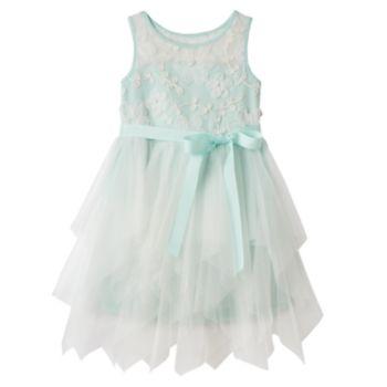 Toddler Girl Marmellata Classics Soutache Flower Bodice Tiered Skirt Dress